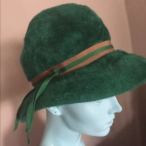 Vintage green hat from Sears millinery